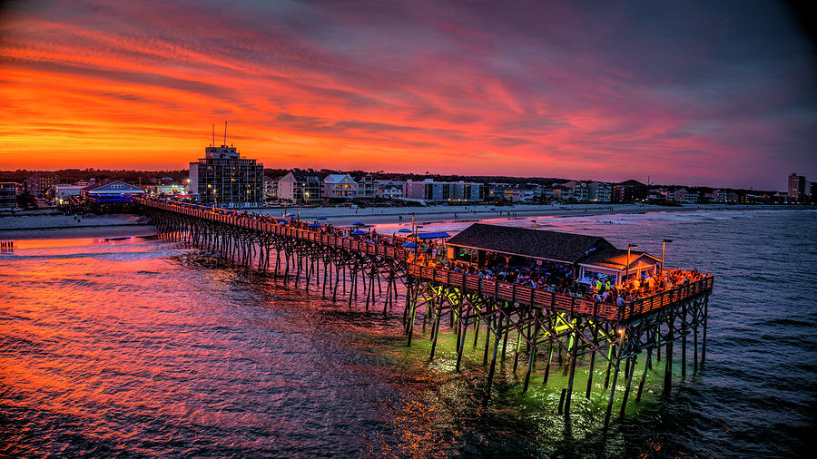 Skyfire Pier Sunset South Side by Robbie Bischoff