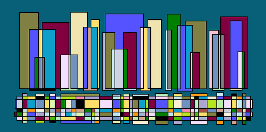 Cityscape Digital Art - Skyline 105 by Cynthia Friedlob