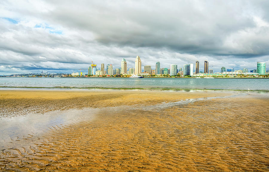 Skyline At Low Tide #3 by Joseph S Giacalone