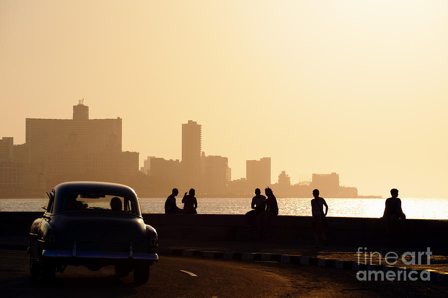 La Habana Photograph - Skyline In La Habana, Cuba, At Sunset by Diego Cervo