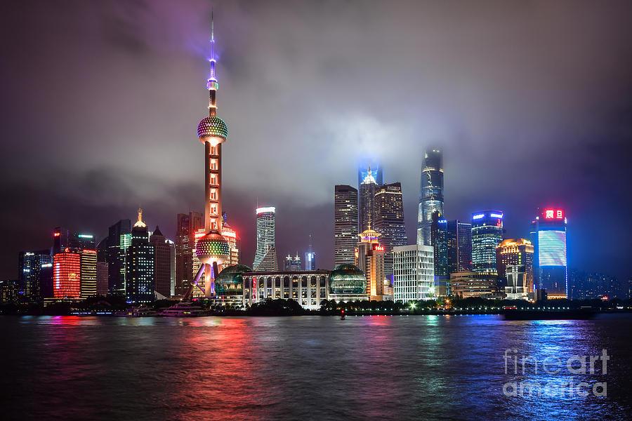 Skyline in Shanghai by Steven Liveoak