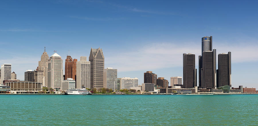Skyline Of Detroit By Day Photograph by Pawel.gaul