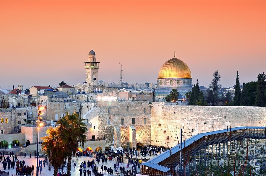 Mosque Photograph - Skyline Of The Old City At He Western by Esb Professional