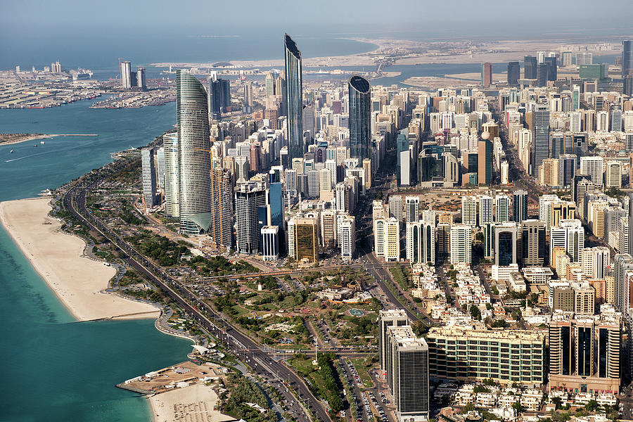 Skyscrapers And Coastline In Abu Dhabi Photograph by Extreme-photographer