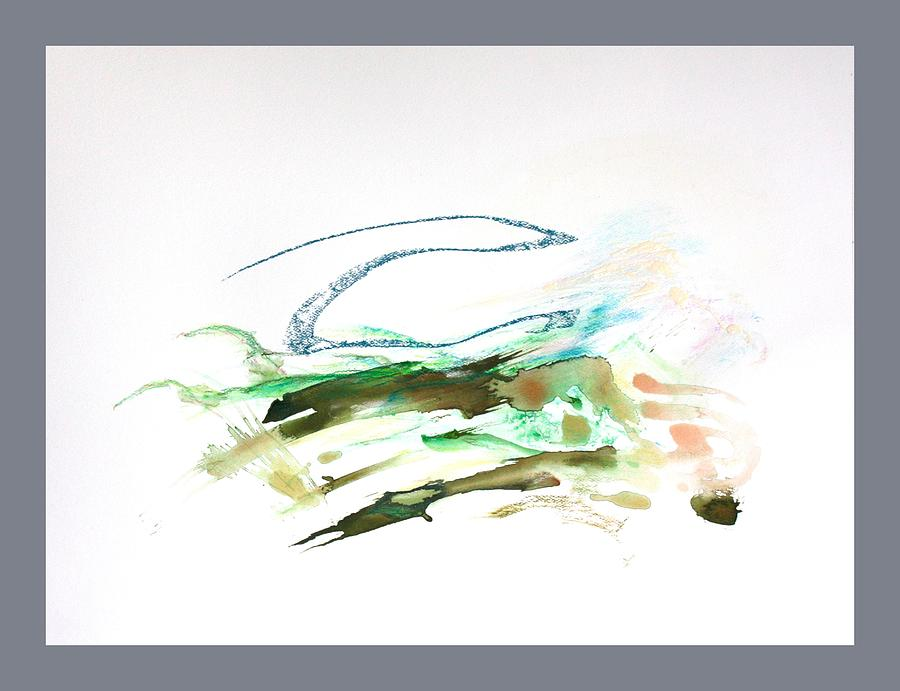 Abstract Mixed Media - Skywave by David Wilde