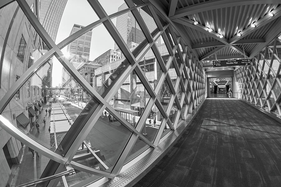 Skyway to Minneapolis City Center by Jim Hughes