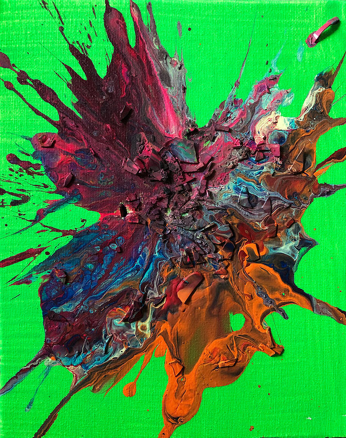 Paint Explosion Painting - Slam Painting #10 by Chris Crewe