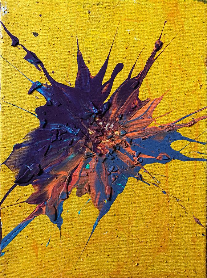 Violet Painting - Slam Painting #20 by Chris Crewe