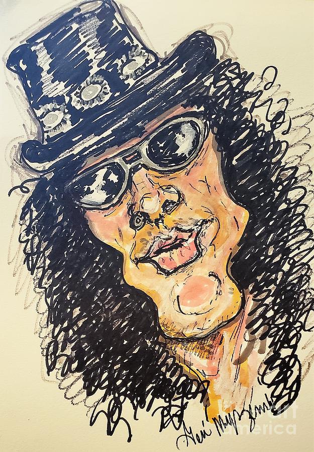 Slash Mixed Media - Slash From Guns N Roses by Geraldine Myszenski