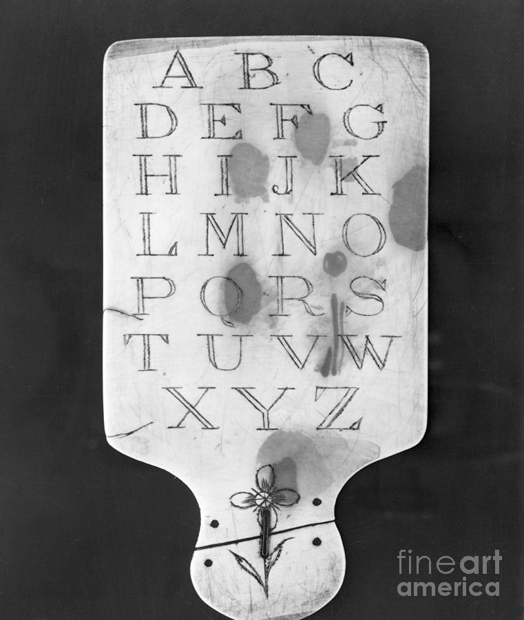 Slate Alphabet Tablet Photograph by Bettmann