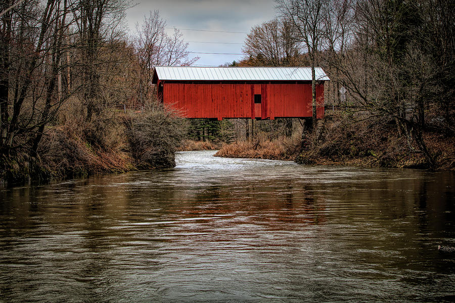 Slaughterhouse Covered Bridge in Spring by Jeff Folger