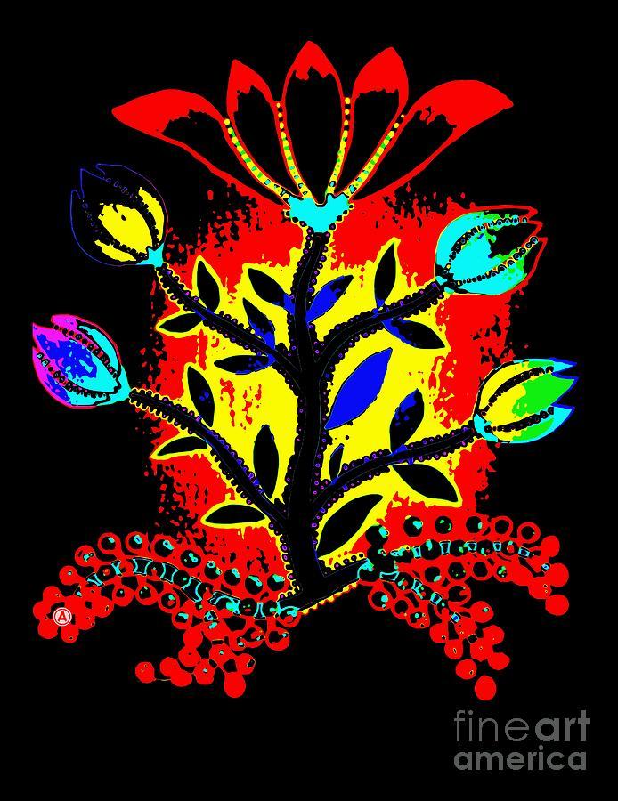 Anthony Mixed Media - Slavic Flower #2 by Anthony Mrugacz