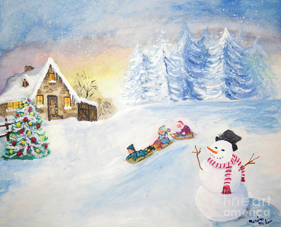 Sledding on Christmas Eve by Marina McLain