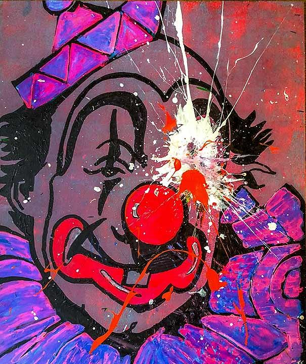Toronto Painting - Sledgehammer Face Clown #22 by Chris Crewe