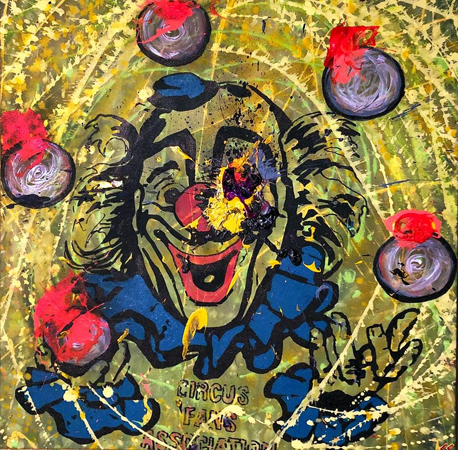 Toronto Painting - Sledgehammer Face Clown #9 by Chris Crewe