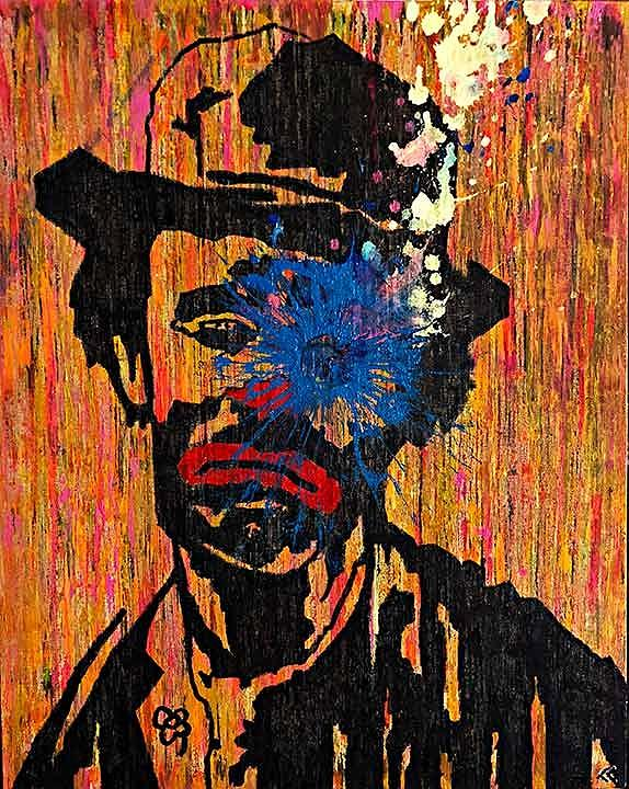 Toronto Painting - Sledgehammer Face Clown by Chris Crewe