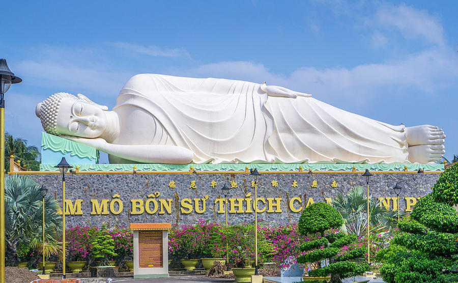 Sleeping Buddha Vinh Trang Temple by Gary Gillette