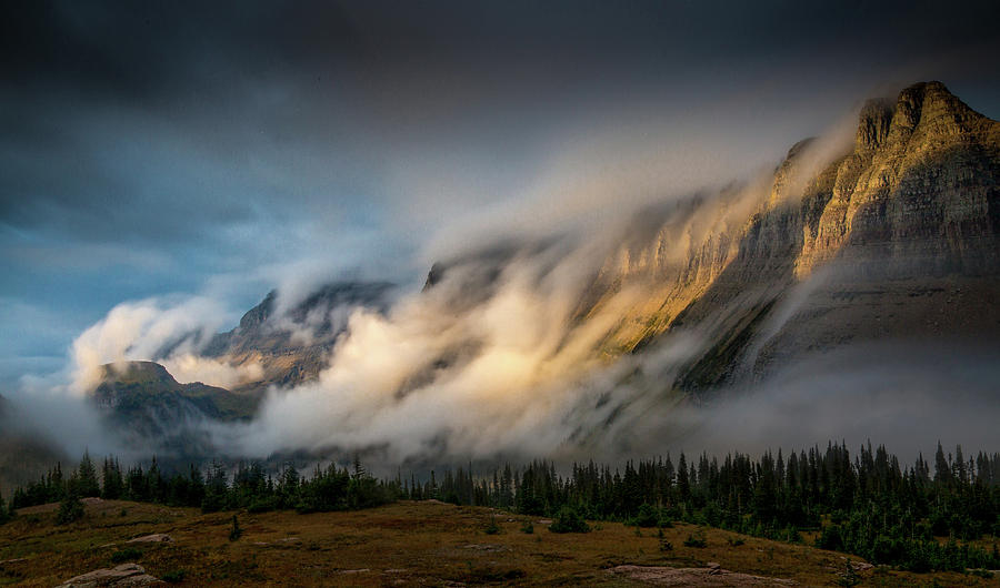 Sleeping Dragon / Logan Pass, Glacier National Park  by Nicholas Parker