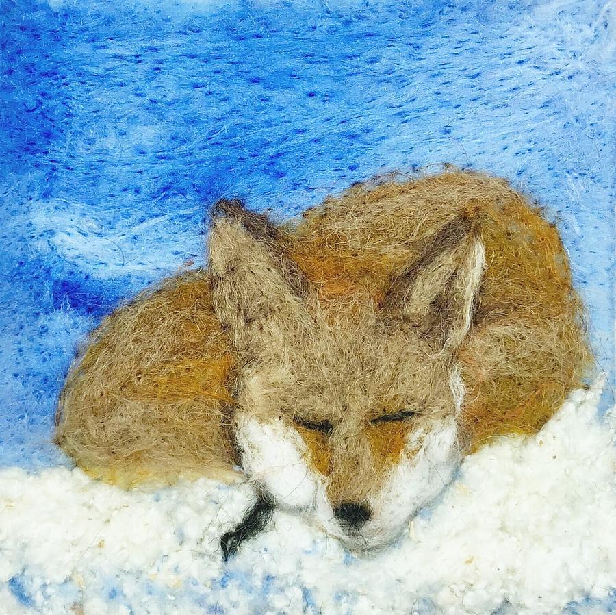 sleeping fox by Ushma Sargeant