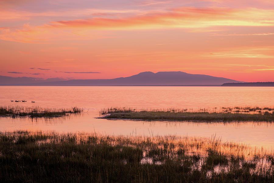 Alaska Photograph - Sleeping Lady Sunset by Tim Newton