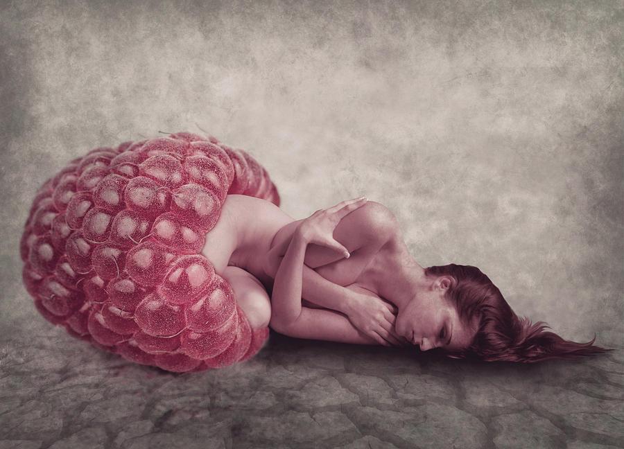 Sleeping Raspberry Digital Art