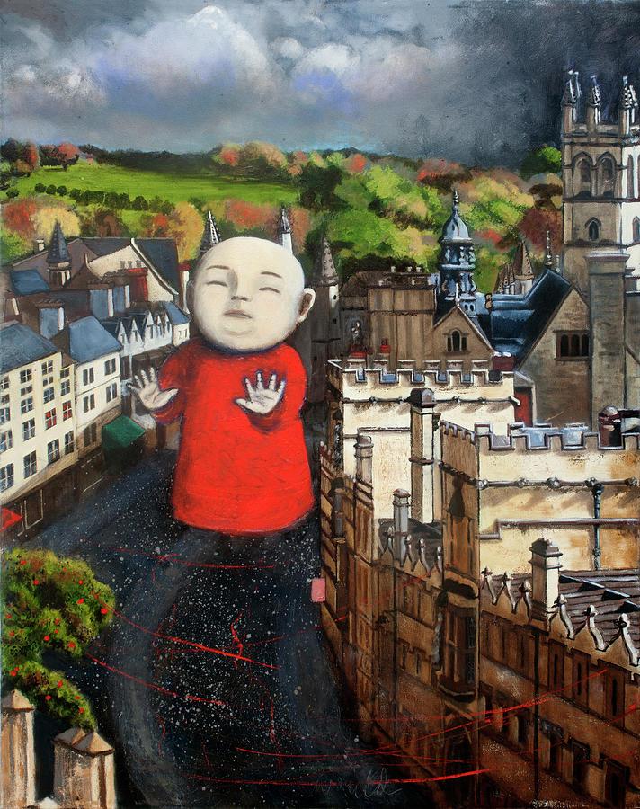 Baby Painting - Sleepwalking On High Street by Pauline Lim