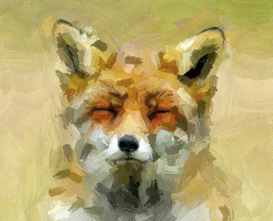 Sleepy Fox by Painterly Images