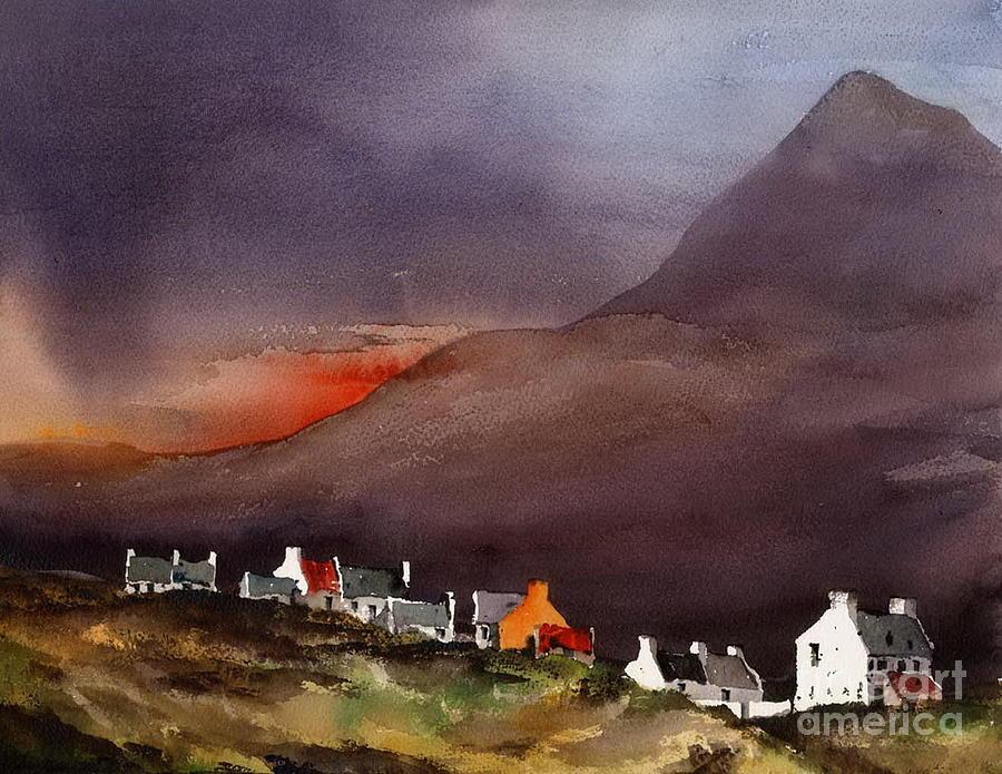 Sliabh Mor sunset, Achill, by Val Byrne