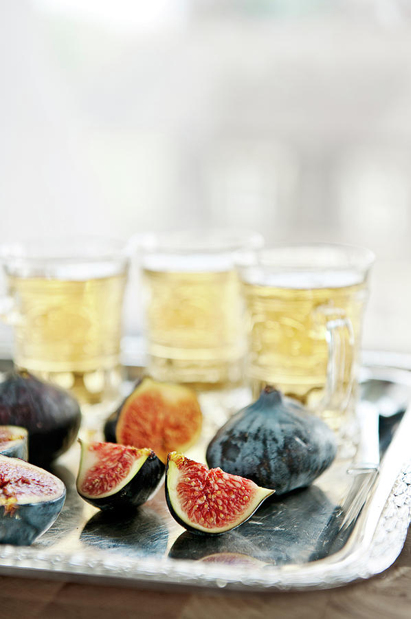 Sliced Fresh Figs With Herbal Tea Photograph by A.y. Photography
