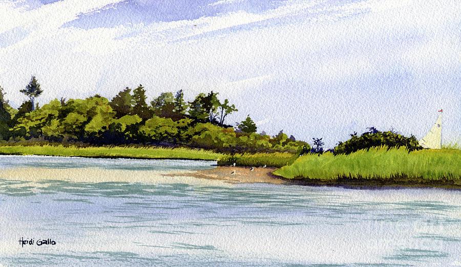 Slipping by Hog Island by Heidi Gallo