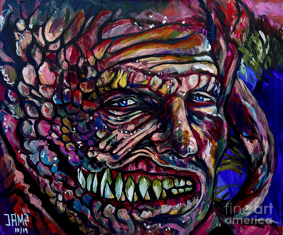 Slither Painting - Slither Michael Rooker by Jose Mendez
