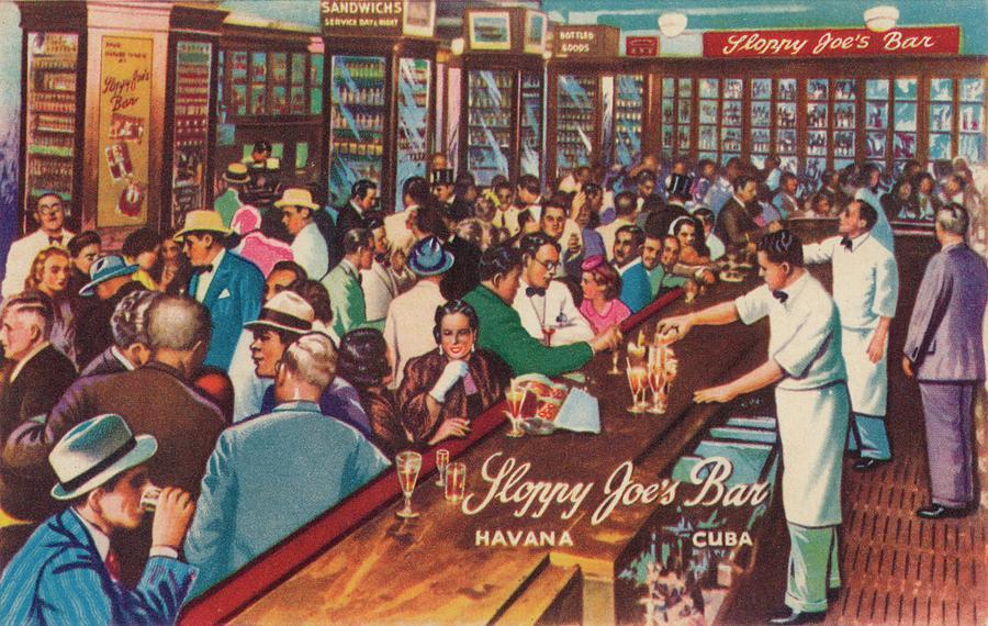 Sloppy Joes Bar, Havana, Cuba, 1951 Photograph by Print Collector
