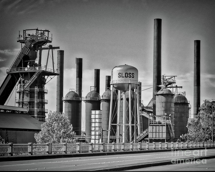 Sloss Furnaces Towers by Ken Johnson
