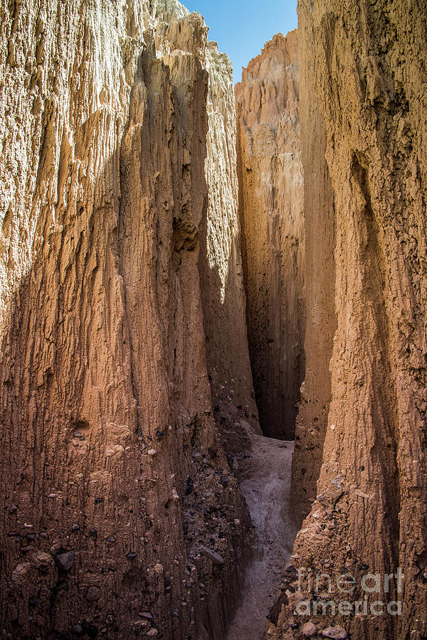 Slot Canyon at Cathedral Gorge by Kathy McClure