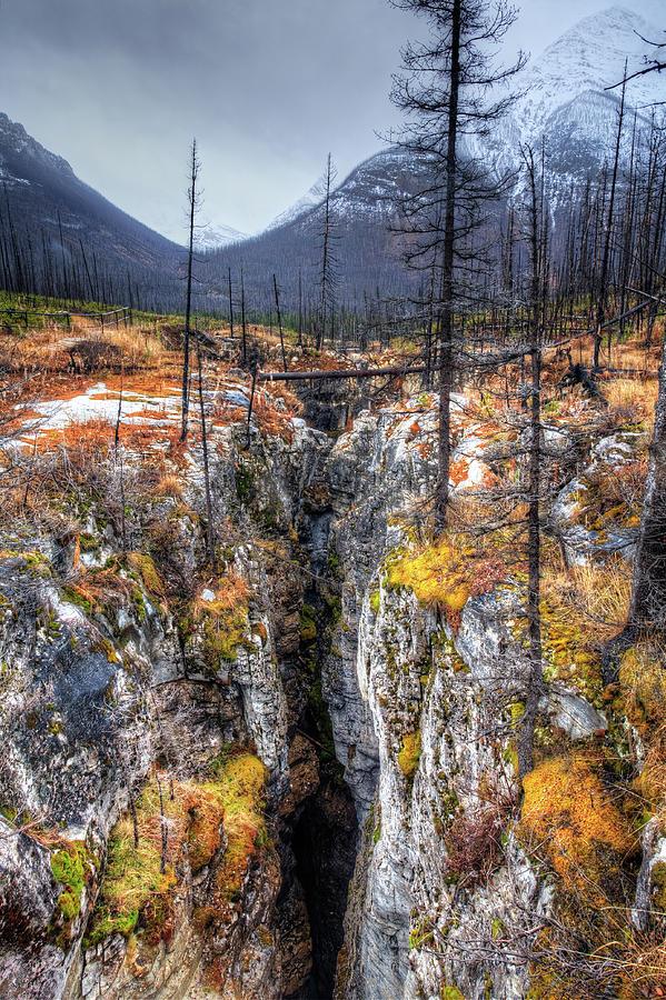Slot Canyon In British Columbia Photograph by Lauzla
