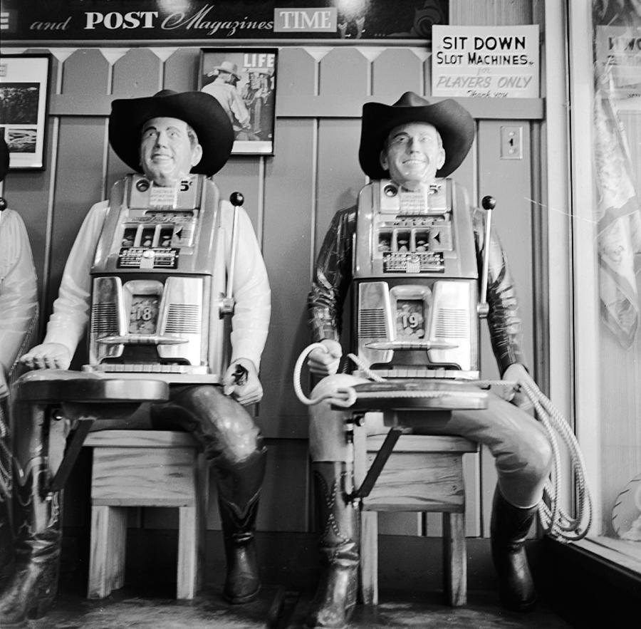 Slot Machines Photograph by Evans