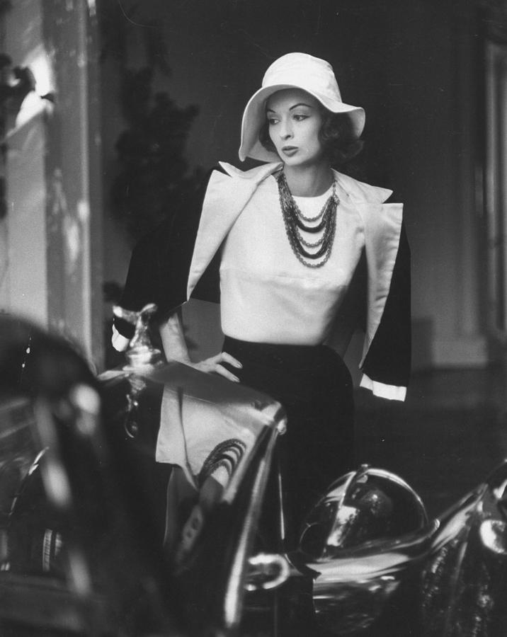 Slouch Hat In Garbo Tradition Made Of Wh Photograph by Gordon Parks