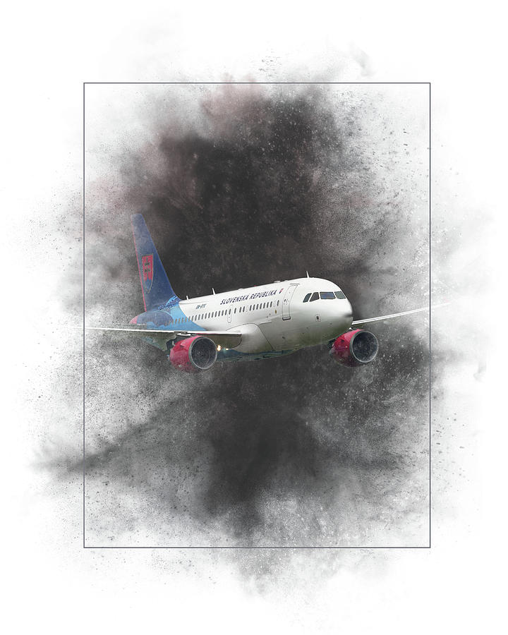 Slovak Mixed Media - Slovak Government Flying Service Airbus A319-115 Painting by Smart Aviation