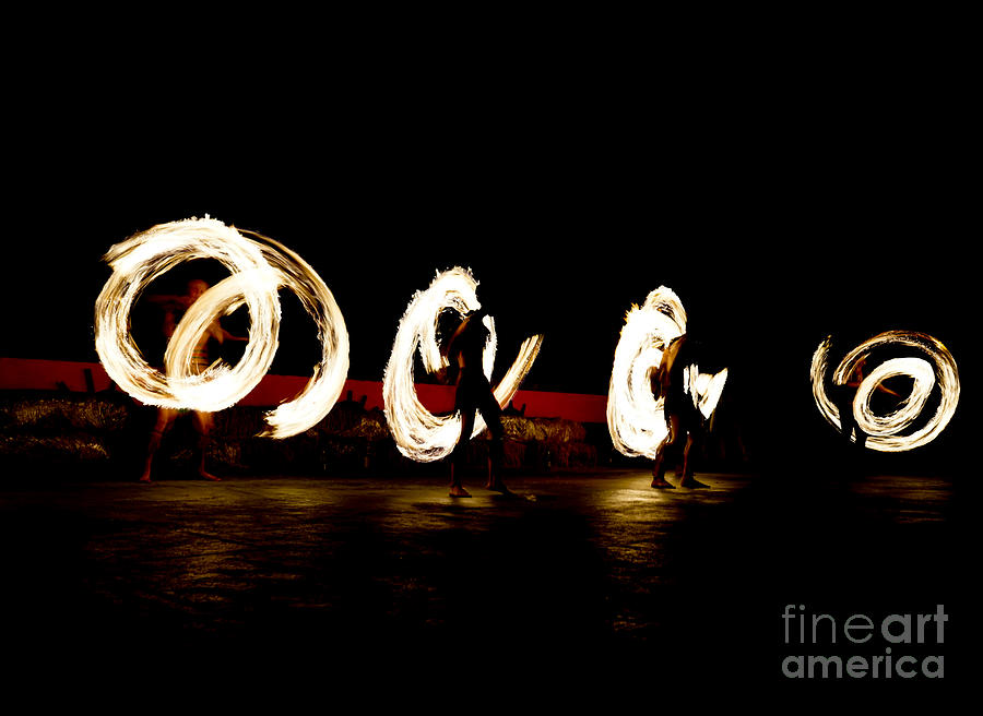 Activity Photograph - Slow Shutter Speed Of Fire Show by The Sun Photo