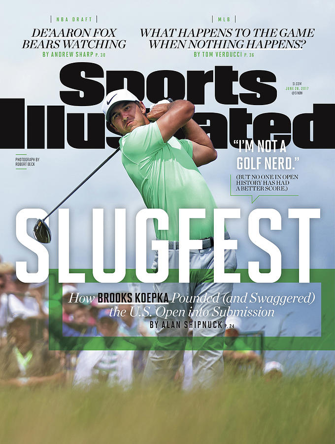 Slugfest How Brooks Koepka Pounded And Swaggered The Us Sports Illustrated Cover Photograph by Sports Illustrated