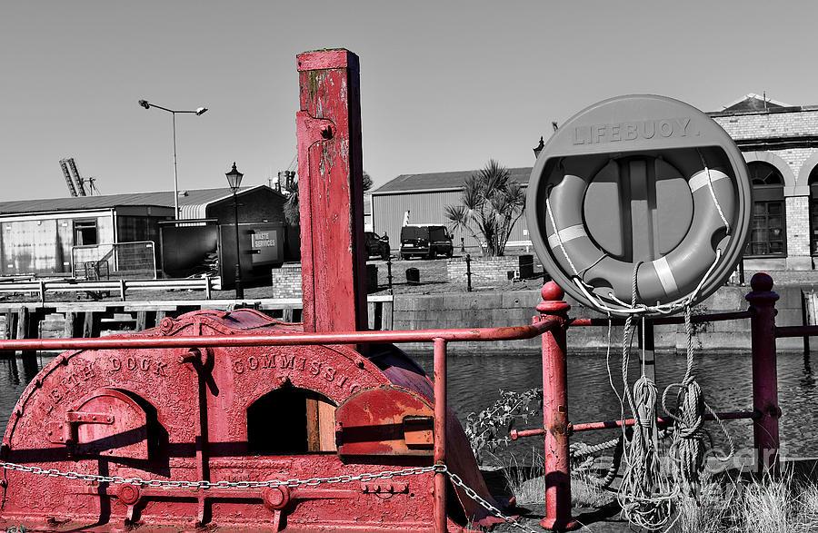 Sluice Mechanism - Albert Dock - Leith Docks by Yvonne Johnstone