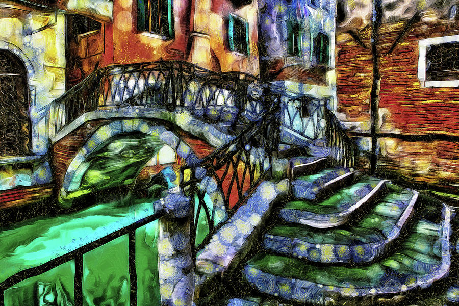Small Bridge Venice Italy by Mad Artist