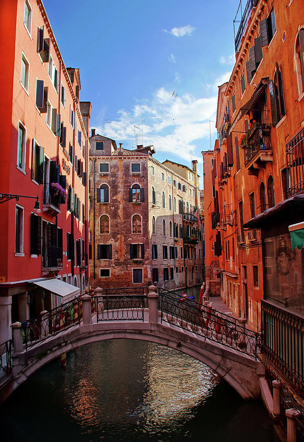Small Canals In Venice Italy Photograph by Totororo
