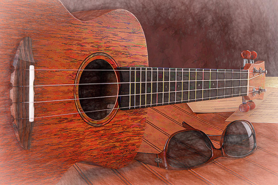 Small Guitar and Shades by Tom Mc Nemar
