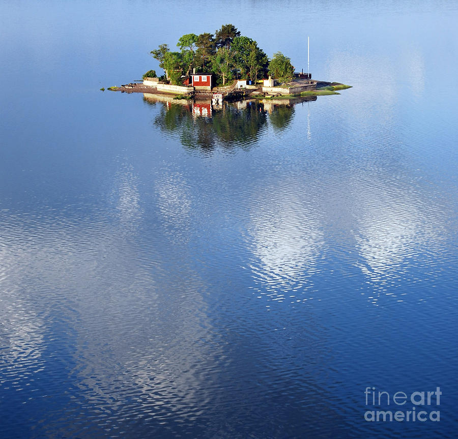 Small Photograph - Small Island In The Swedish Archipelago by Tp Gronlund