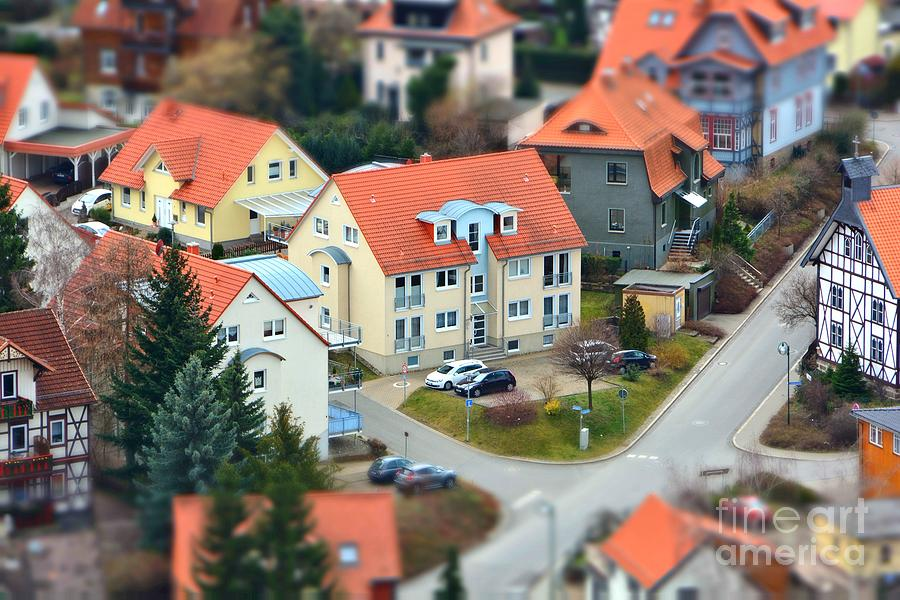 Small Photograph - Small Town From A Birds Perspective by Bildagentur Zoonar Gmbh