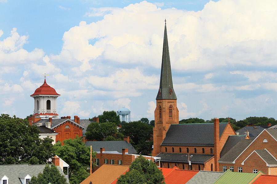 Small Town Steeples And Rooftops Photograph by Williamsherman