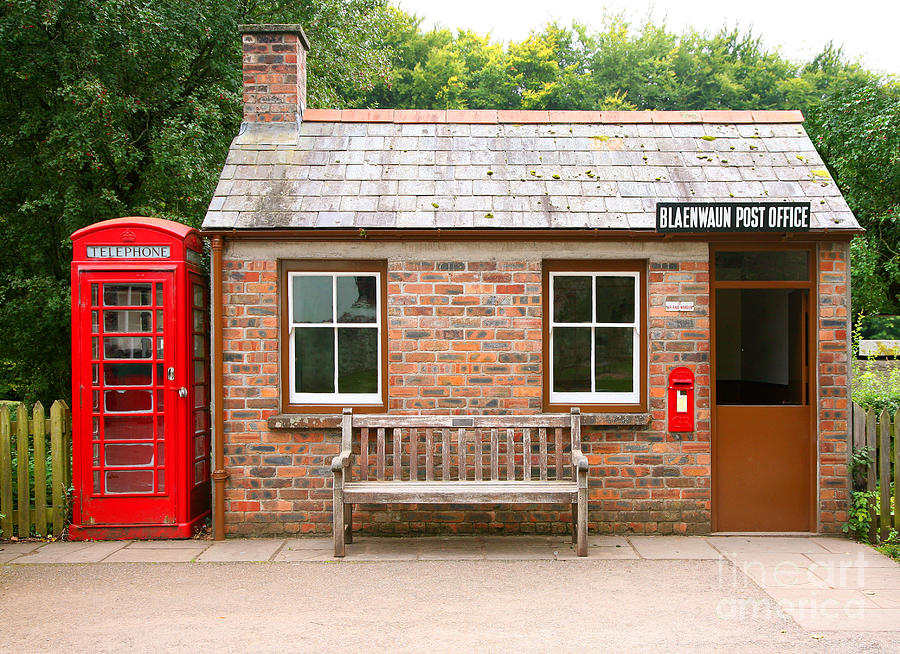 Small Photograph - Small Traditional Brick Building With by Tazzymoto