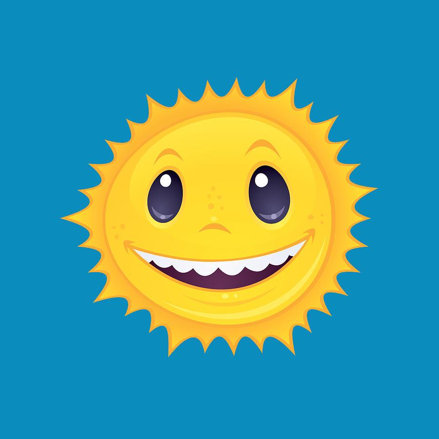 Smiley Sun Digital Art