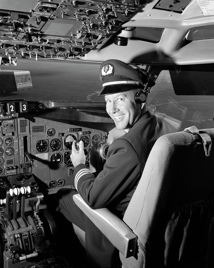 Smiling Portrait Of A Pilot In The Photograph by H. Armstrong Roberts
